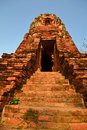 Ancient pagoda stairs and entrance Stock Photos