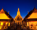 Ancient pagoda at wat arun ratchawararam ratchawaramahawihan or in bangkok of thailand Royalty Free Stock Photography