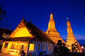 Ancient pagoda at wat arun ratchawararam ratchawaramahawihan or in bangkok of thailand Royalty Free Stock Photos