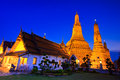 Ancient pagoda at wat arun ratchawararam ratchawaramahawihan or in bangkok of thailand Stock Photography