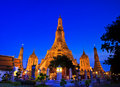 Ancient pagoda at wat arun ratchawararam ratchawaramahawihan or in bangkok of thailand Royalty Free Stock Images