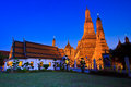 Ancient pagoda at wat arun ratchawararam ratchawaramahawihan or in bangkok of thailand Royalty Free Stock Photo