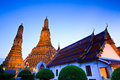 Ancient pagoda at wat arun ratchawararam ratchawaramahawihan or in bangkok of thailand Stock Photos
