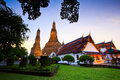 Ancient pagoda at wat arun ratchawararam ratchawaramahawihan or in bangkok of thailand Stock Photo