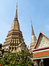 Ancient pagoda at Wat Pho , Bangkok Royalty Free Stock Photos