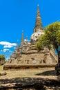 Ancient Pagoda in Wat Phrasisanpetch Phra Si Sanphet. Ayutthay