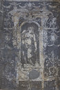 Ancient painting on the wall closeup fragment of fresco florence italy Royalty Free Stock Photos