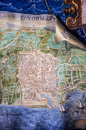 Ancient Palermo Map Royalty Free Stock Photo