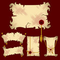 Ancient  parchment banners - vector Royalty Free Stock Photography