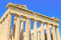 Ancient parthenon temple acropolis in athens greece Royalty Free Stock Photo