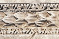 Ancient patterns in Ephesus, Turkey. Stock Photos