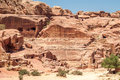 Ancient petra theatre in city Royalty Free Stock Photos