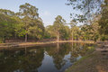 Ancient pool near angkor temples cambodia Royalty Free Stock Photo