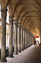 Ancient porch in bologna an antique italy Royalty Free Stock Image