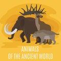 Ancient prehistoric stone age animals