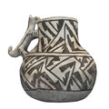 Ancient Pueblo Indian pitcher isolated Royalty Free Stock Images
