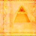 Ancient Pyramid Eye Design Stock Photography