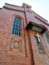 Ancient red brick church Royalty Free Stock Photo