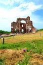 Ancient Red church ruins Royalty Free Stock Photo