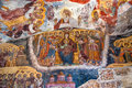 Ancient religious paintings in christianity sumela monastery trabzon turkey the monastery was founded ad during the reign of the Royalty Free Stock Image