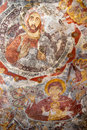 Ancient religious paintings in christianity sumela monastery trabzon turkey the monastery was founded ad during the reign of the Royalty Free Stock Images