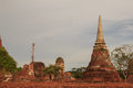 Ancient remains of Wat Ratchaburana temple in the Ayutthaya Hist