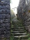 Ancient road steps Royalty Free Stock Photo