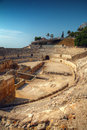 Ancient Roman amphitheater Royalty Free Stock Photography
