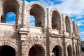 Ancient Roman amphitheater in Arles Stock Photography