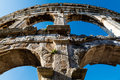 Ancient Roman Amphitheater in Pula Royalty Free Stock Images