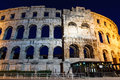 Ancient Roman Amphitheater in Pula Royalty Free Stock Photography
