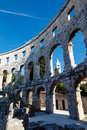 Ancient Roman Amphitheater in Pula Royalty Free Stock Image