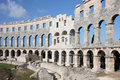 Ancient roman amphitheater in pula croatia Stock Photos