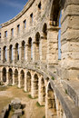Ancient roman amphitheatre - Pula Stock Photography