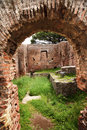 Ancient Roman Arch Ruins Ostia Antica Rome Italy Stock Photography