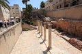 Ancient Roman Cardo in Jerusalem Old City Royalty Free Stock Photo