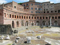 Ancient Roman Forum ruins in Rome Royalty Free Stock Photo