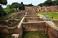 Ancient Roman Ruins Ostia Antica Rome Italy Royalty Free Stock Photo