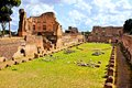 Ancient roman ruins view over the of palatine hill rome italy Royalty Free Stock Images