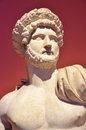 Ancient roman sculpture of the emperor hadrian builder of hadrian s wall Stock Photos