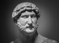 Ancient roman sculpture of the emperor Hadrian Royalty Free Stock Photo