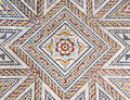 Ancient roman stone mosaic floor with geometric design Royalty Free Stock Photo