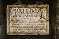 Ancient Roman tombstone plate Royalty Free Stock Photo