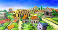 Ancient Rome panorama view. Image 02