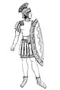 Ancient rome pretorian warrior historical costume stylized bas relief century bc Royalty Free Stock Photo