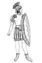 Ancient Rome Pretorian warrior