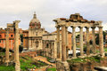Ancient Rome ruin building of Rome city Royalty Free Stock Photo