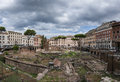 Ancient rome ruins sacred area of largo di torre argentina Royalty Free Stock Photos