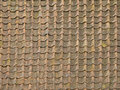 Ancient roof tiles red background texture relief Royalty Free Stock Image