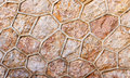 Ancient roughness stone wall a lot of different stones beige texture can be used as background Royalty Free Stock Image